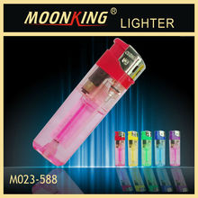 2014 hot sale transparent disposable electronic cigarette lighter