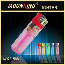 2014 hot sale transparent disposable electronic cigarette lighter