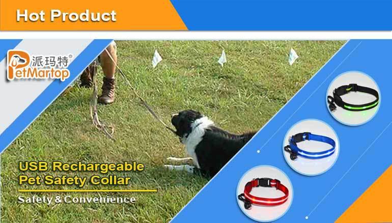 LED Dog Collar TZ-PET5000 Double-line LED Flashing Dog Collar Weatherproof, Bright Light