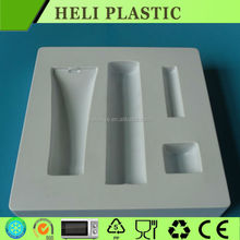 disposable white flocking cosmetic display tray
