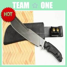 Combat Fighter Hunter Knife Full Tang Leather Sheath 14.2""