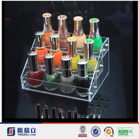 Hotsale!!! Latest special style clear 3 tiers acrylic nail polish display rack