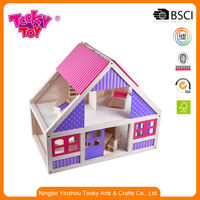 My Happy Family Children Mini Garden Farm Model Cardboard Crafts Wood/Wooden Dolls Game House Playhouse Toy Miniature