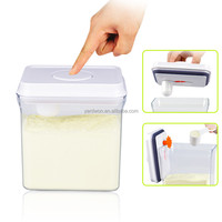 1.7liter rectangle eco friendly one button open and lock white with pendant plastic baby food storage