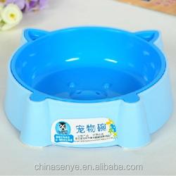 2015 cartoon pet bowl pig shape dog bowl small cat/dog basin plastic pet bowl