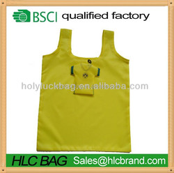 Holy Luck Promotional recycled polyester foldable shopping bag with small polyester pounch