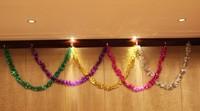 Christmas tinsel garland, glitter tinsel, decorative tinsel garland