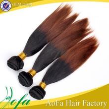 Top sales two tones high quality virgin brazilian 100% human ombre hair braiding hair