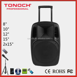 High quality street broadcast trolley 12 inch tweeter speakers acoustic subwoofer