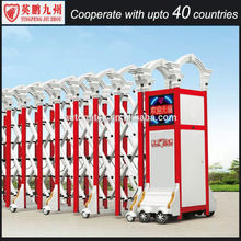 Folding telescopic sliding driveway security gate for sale