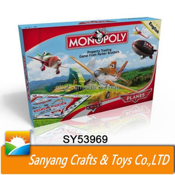 New design cartoon plane story monopoly reoducts custom chess game