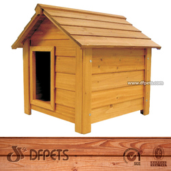 Alibaba Express Wooden Dog Kennel Wholesale Fully Tongue & Grooved DFD010