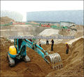 Mini Excavadora Hidráulica Excavadora pequeña mini-excavación excavadora KUBOTA K135