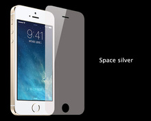 Cool space silver color anti-blue-light eyes protection tempered glass screen protector for iphone5
