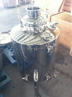 stainless steel milk can boiler with drain fitting & valve