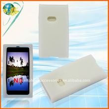 Clear white silicone rubber case for Nokia N9