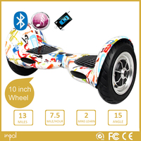 10 inch smart balance wheel scooter with bluetooth speaker remote LED