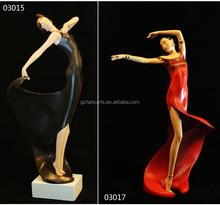 Elegant dancer resin figurine home ornaments Resin crafts dance figure sculpture European style Creative Resin crafts