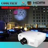 edge blending built in DVI support 10000 lumens LCD wuxga 1920x1200 outdoor video 10000 lumens 4k projector