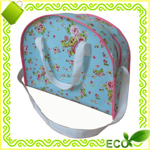 new design hot sale shoulder length handle gravure printing laminated reusable sports travel shopping bag