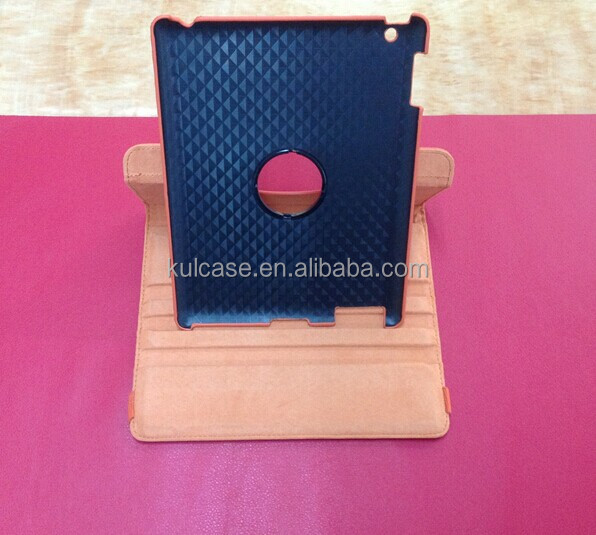 hot selling PC+PU rotating wallet leather case with stand for ipad mini