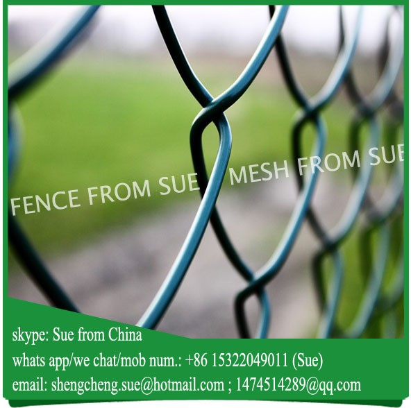 green chain link mesh fence