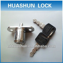 High quality HS212 Zinc alloy die-cast housing and cylinder Chrome plating Glass sliding push lock