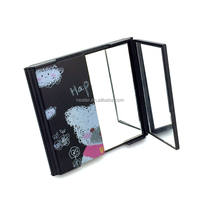Folding square three sided table makeup standing door shape gift makeup mirror