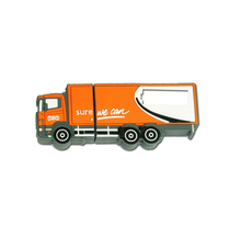 Customized lorry usb flash drives, 2D 3D PVC model usb memory stick, truck usb pen with optional capacity.