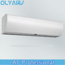 OlyAir Cyclone cross Flow plastic Air Curtain from 90-200cm length remote control with install hight three meter