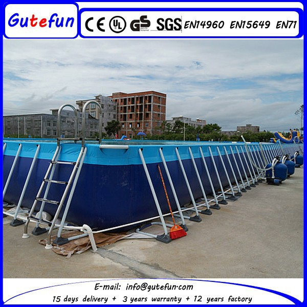 2015 Galvanized Steel Easy Set Large Metal Wall Movable Outdoor Above Ground Swimming Pool Buy