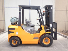chinese huahe petrol lpg forklift truck with nissan k25 engine