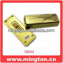 Promotion Gadget pen drive gold bar