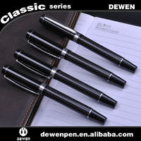 CUSTOM DESIGNED SLEEK BLACK ENAMEL TACTICAL CARBON FIBER ROLLERBALL PEN