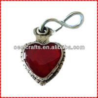 Promotional resin red heart shape custom cheap dog tag maker