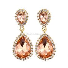 Fashion Alloy Dubai Gold Jewelry Earring for Women Girls China Manufacturer
