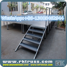 RK used cheap portable stage for sale/aluminum fashion show catwalk show trade show stage/concert outdoor indoor events stage