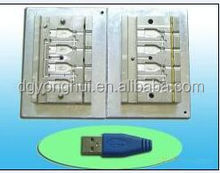 Factory directly sales quality assurance design and processing usb shell plastic injection mould
