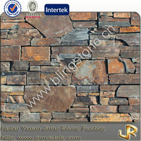 Rustic slate colorful natural wall stone cladding