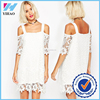 Yihao 2015 Sexy Turtleneck cold shoulder white lace dress Bodycon Bandage Casual Dress Vstidos
