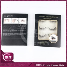 Hand Make Horse Hair Made False Eyelashes, Private Label