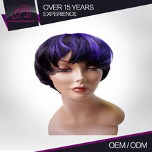 Heathy Machine Made Authentic Short Human Brazilian 100% Hair Wigs Women With Natural Parts
