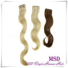 Customer Good Feedback Virgin Human Body Wave Glue Tape Hair/PU Hair Weft For Queen