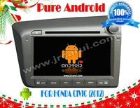 FOR HONDA CIVIC 2012 android 4.2.2 Car DVD GPS, Cortex A9 Dual Core, Support Rear View Camera/BOD/Steering Wheel Control