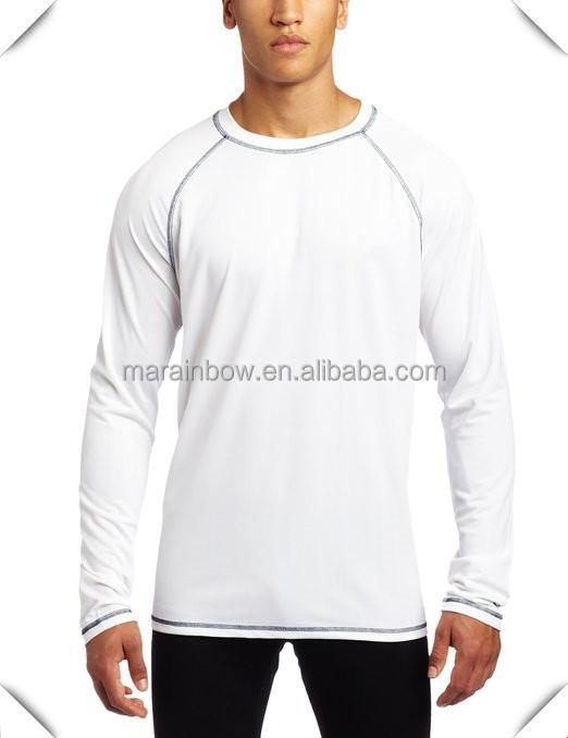 Custom Long Sleeve Tee Shirts 100 White Polyester Jersey