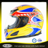 DOT Adult ABS yellow motorcycle full face helmet