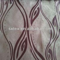 Modern Wave Line Leaf Design Fleece Base Blackout Jacquard Curtain Fabric