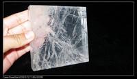 10*10cm natural clear quartz crystal tiles for wholesaler