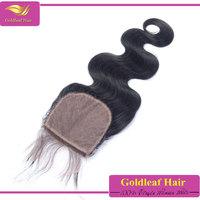 top quality brazilian hair 3 part silk base lace closure