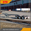 Heavy duty 33ft slider container chassis/skeleton container semitrailer
